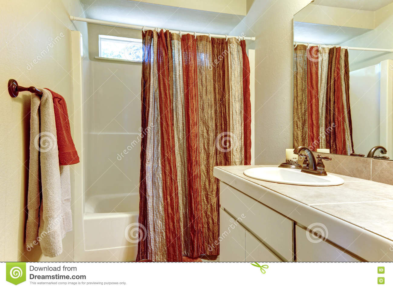 Red And Brown Shower Curtain Simple Bathroom With Red And Brown Colors In Shower Curtain And
