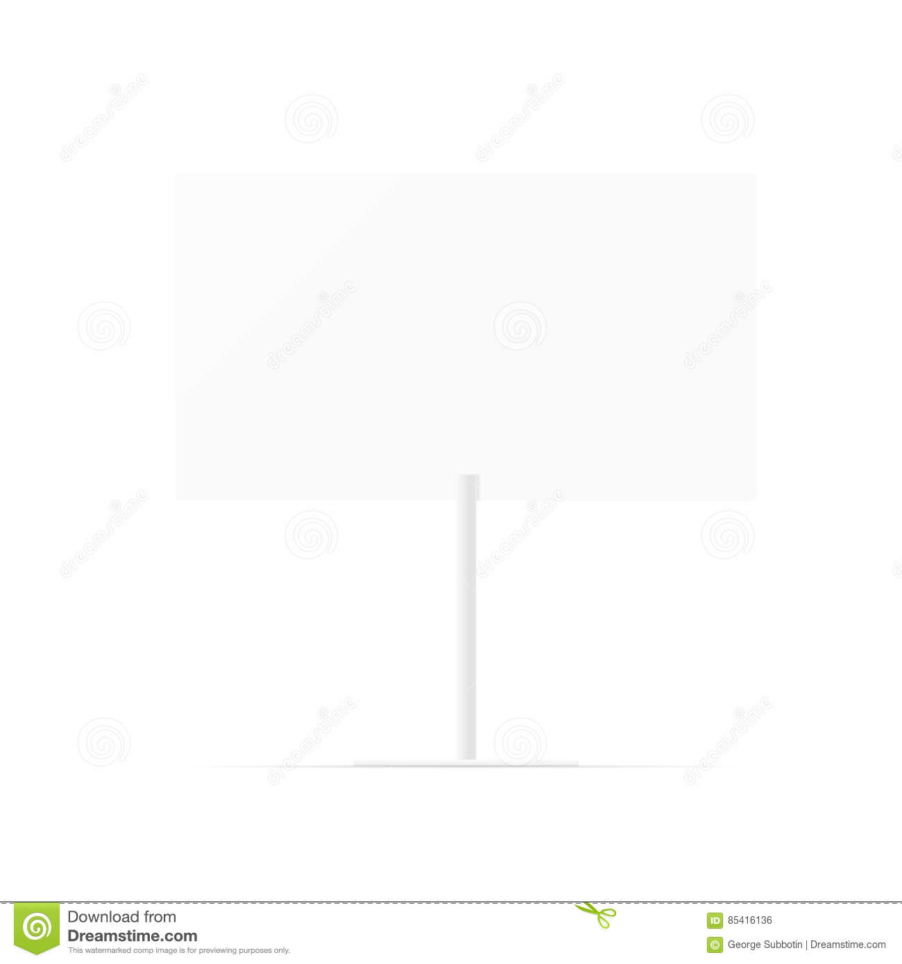 Whiteboard Ständer Simple Blank Whiteboard Empty White Billboard With Space For