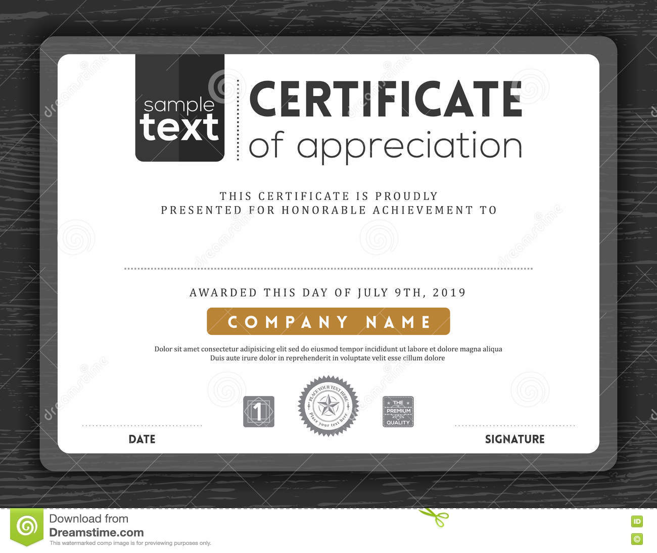 certificate of commendation template