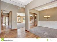 Simple Empty Room With Lots Of Space And Carpet. Stock ...