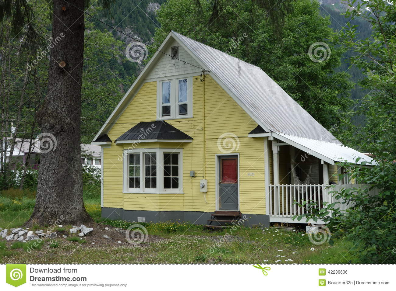 Simple House Image A Simple House At Stewart Canada Stock Photo Image Of