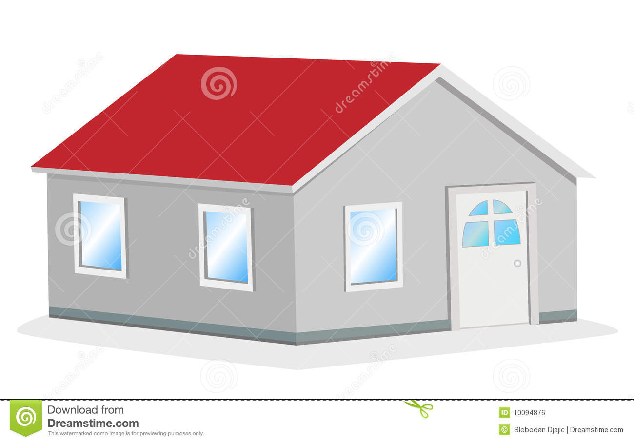 Simple House Image Simple House Vector Illustration Royalty Free Stock Image