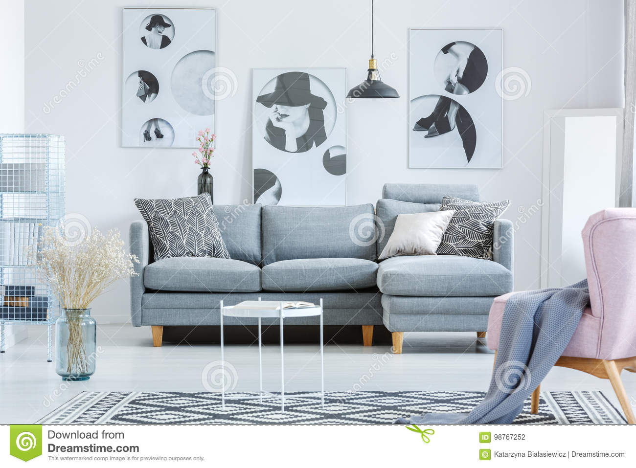 Living Room Paintings Simple Living Room With Paintings Stock Photo Image Of Natural