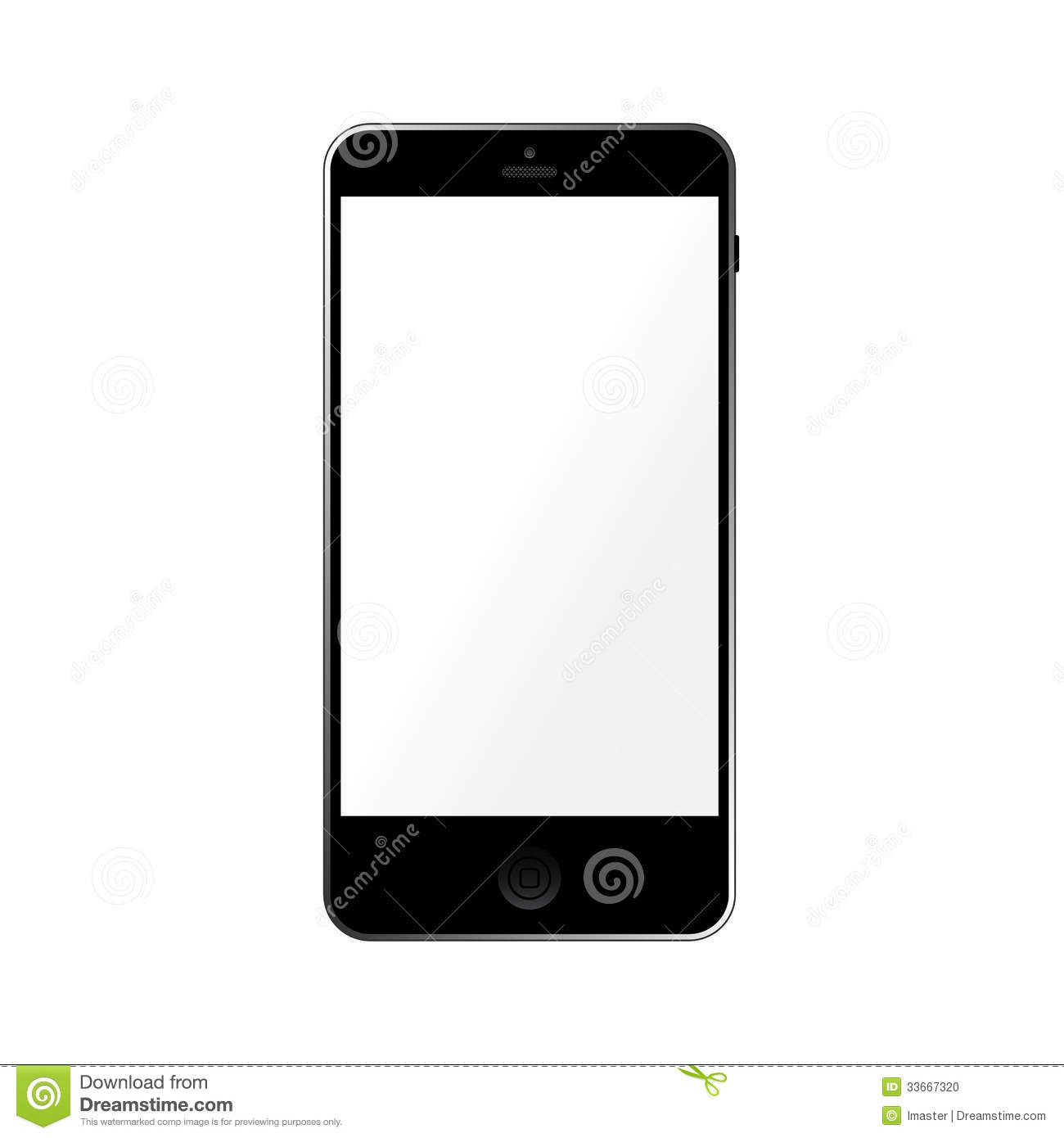 Iphone Wallpaper Icon Template Simple Template Smartphone With Empty Touchscreen Stock