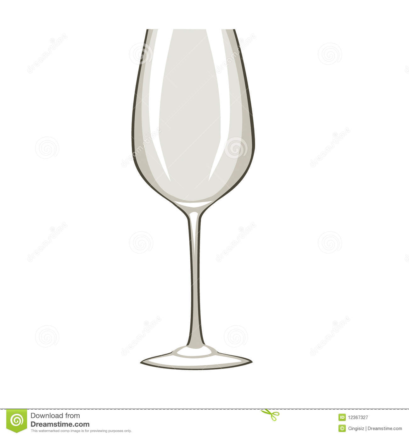 Weinglas Clipart Kostenlos Single Empty Wine Glass Royalty Free Stock Photography