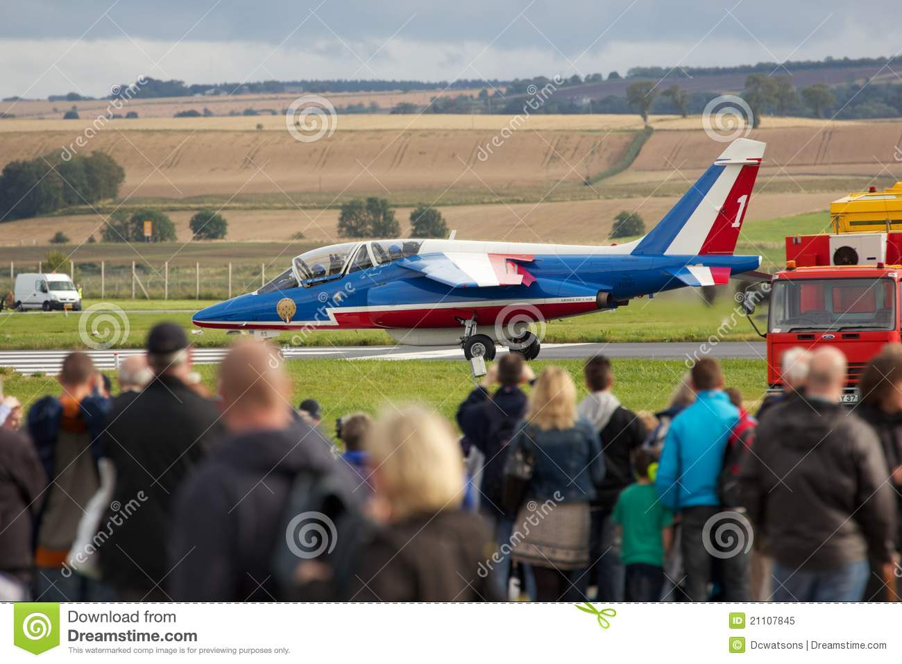 Single Alpha Jet Waiting To Takeoff At The Air Display Leuchars