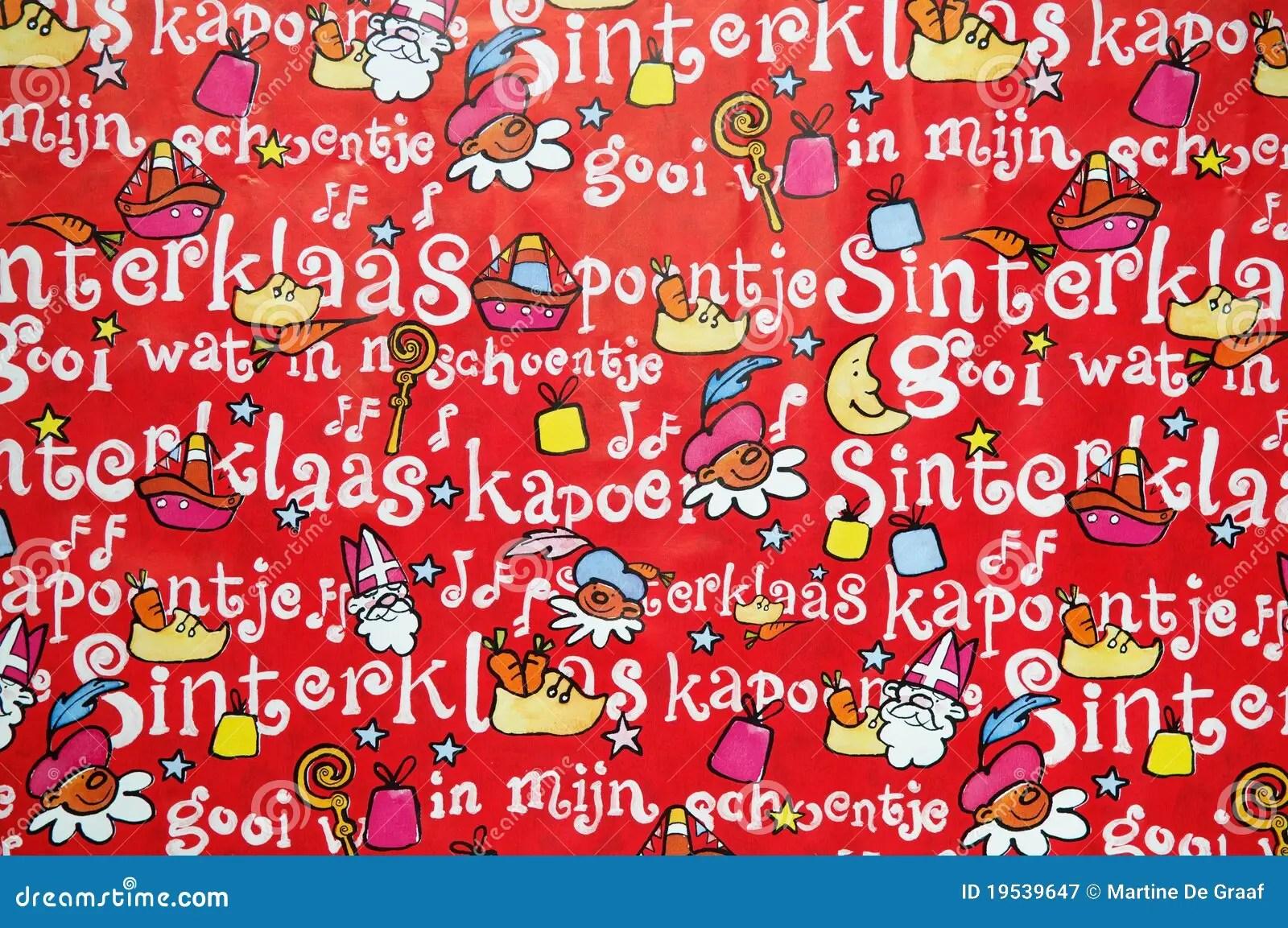 Cute Red Color Wallpaper Sinterklaas Background Stock Image Illustration Of