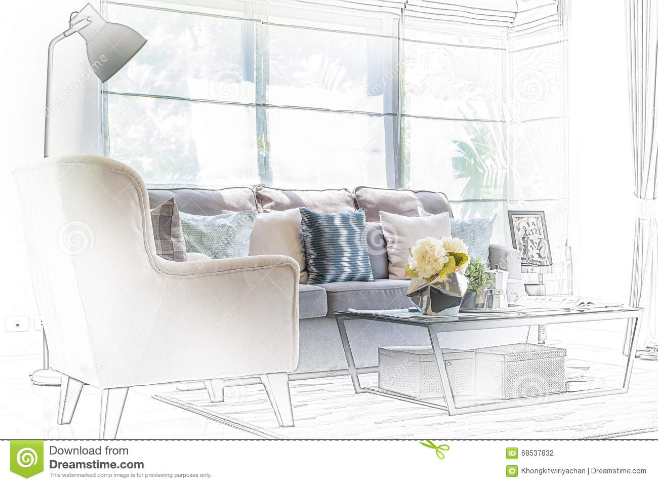 Modern Living Room Sketches chair design sketches
