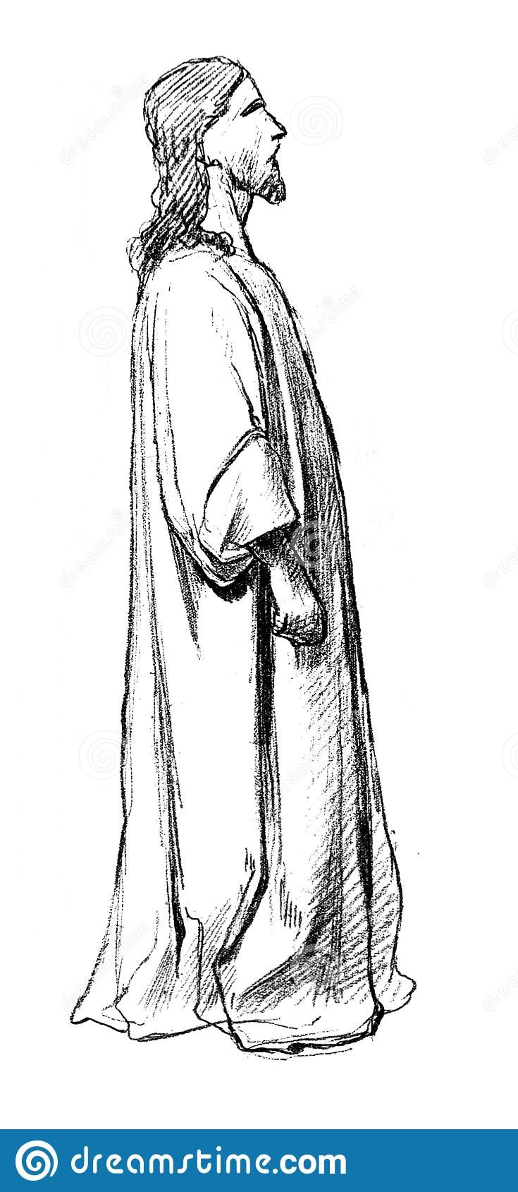 Sketch From A Picture Of Jesus In Front Of Pilate In The Old Book Artistes Modernes By Goupil 1881 Paris Stock Illustration Illustration Of Monochrome Closeup 180234621