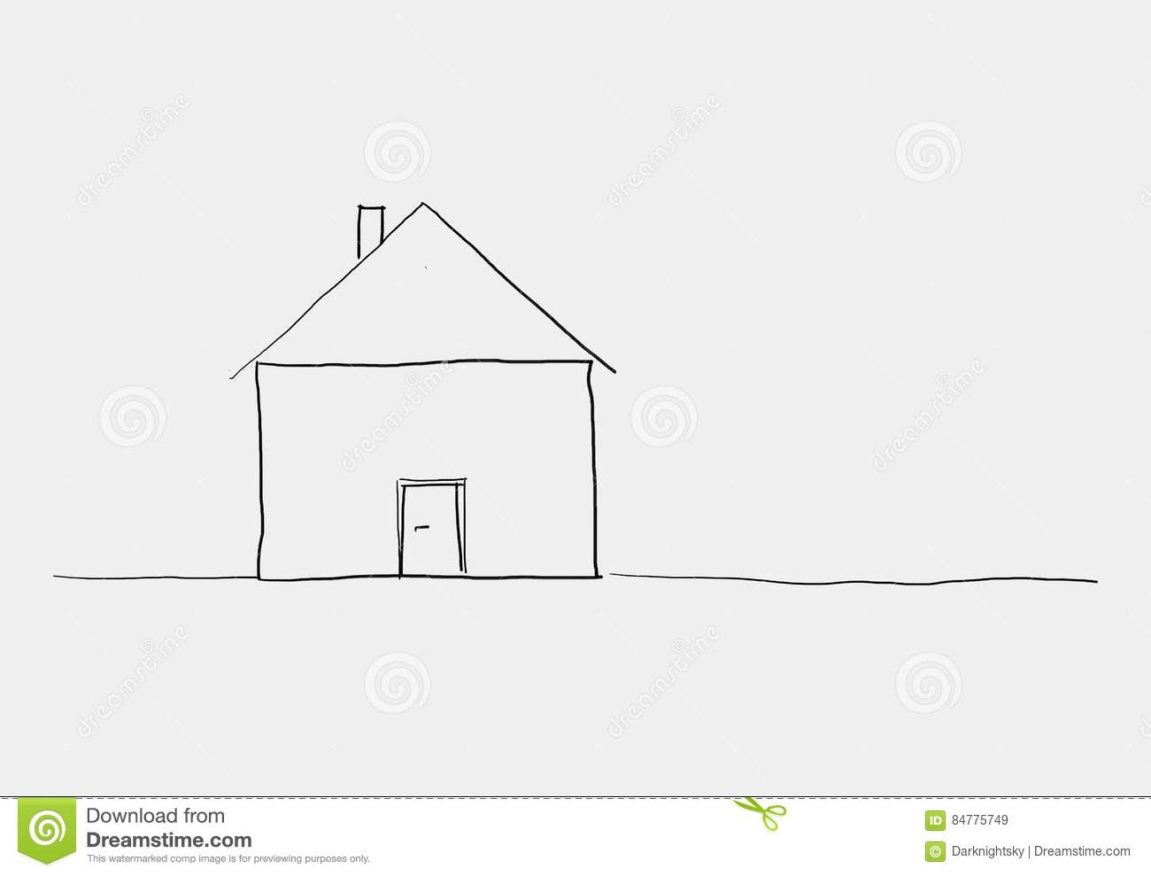 Croquis Maison Simple Sketh Mignon De Maison Illustration Stock Illustration Du Idées