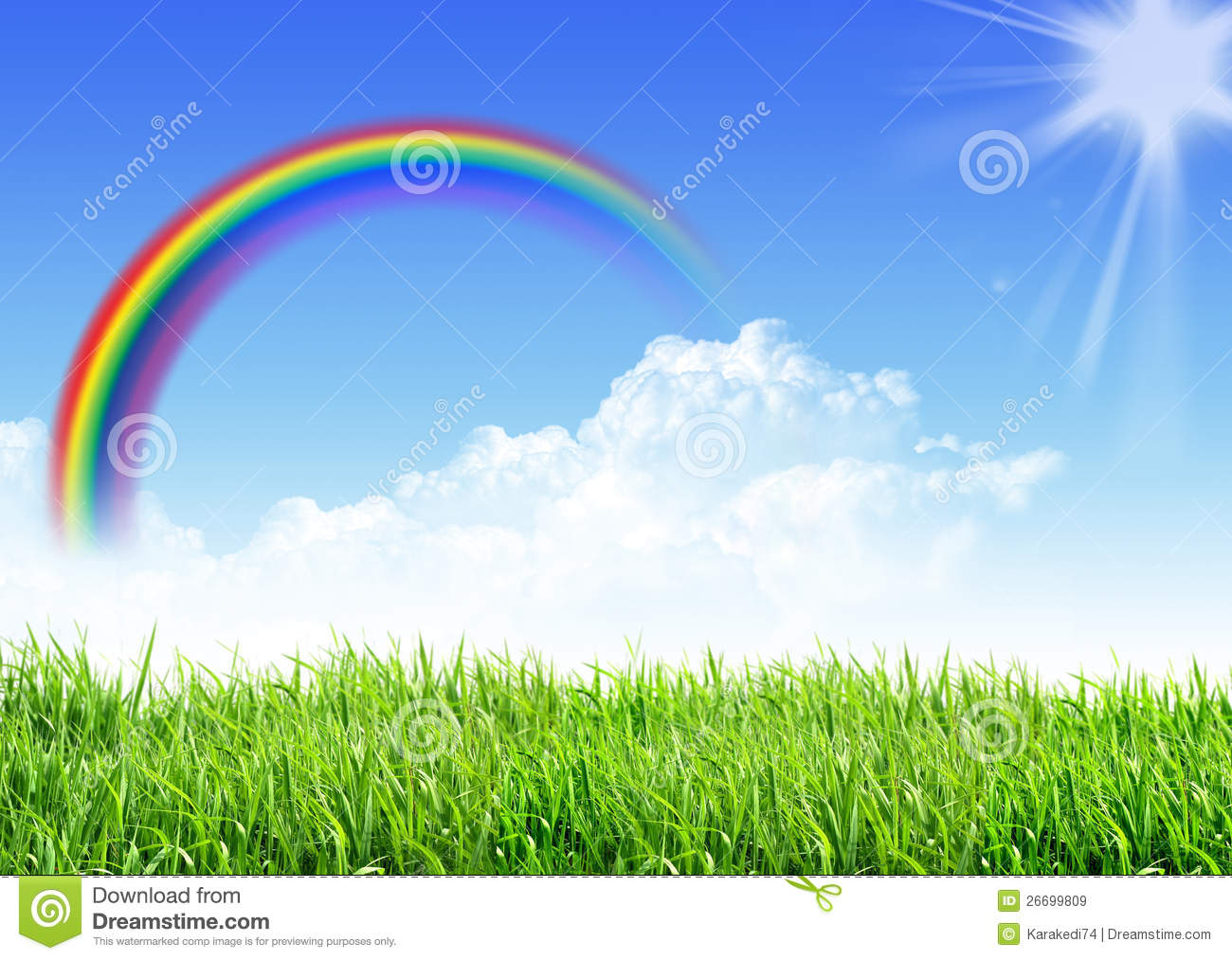 3d Moving Animation Wallpaper Download Sky Grass Rainbow Royalty Free Stock Images Image 26699809