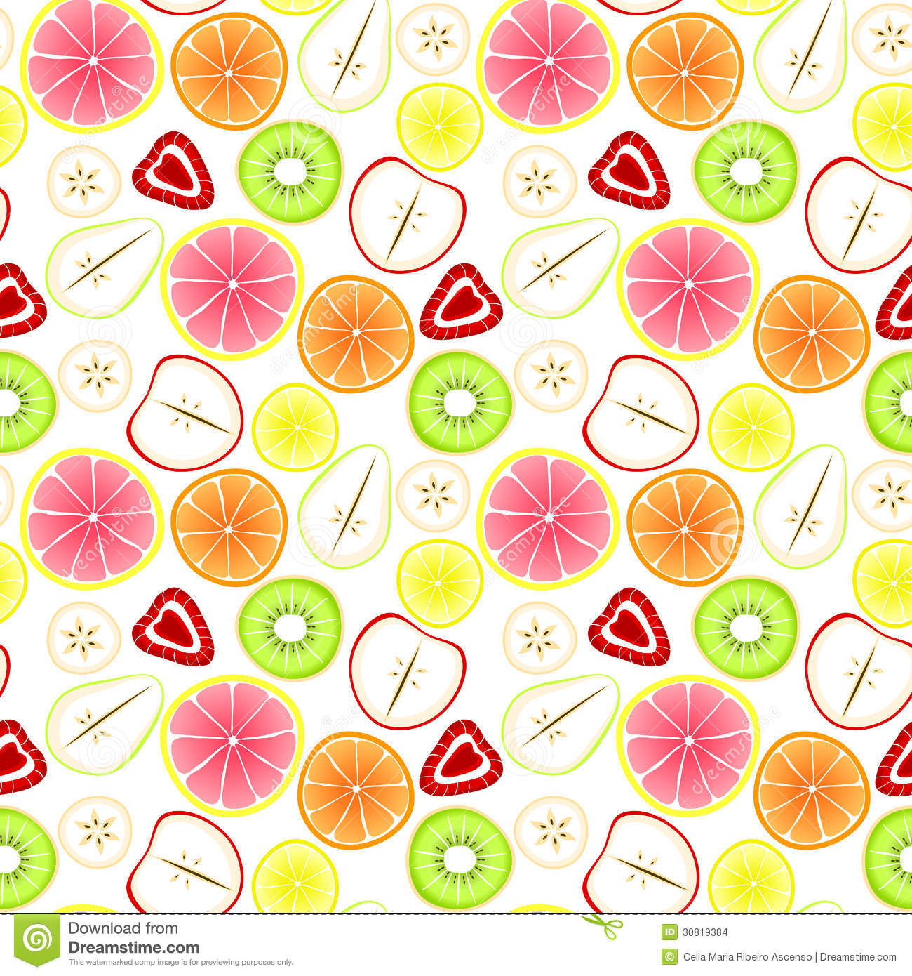 Cute Panda Iphone Wallpapers Sliced Fruit Seamless Background Stock Images Image