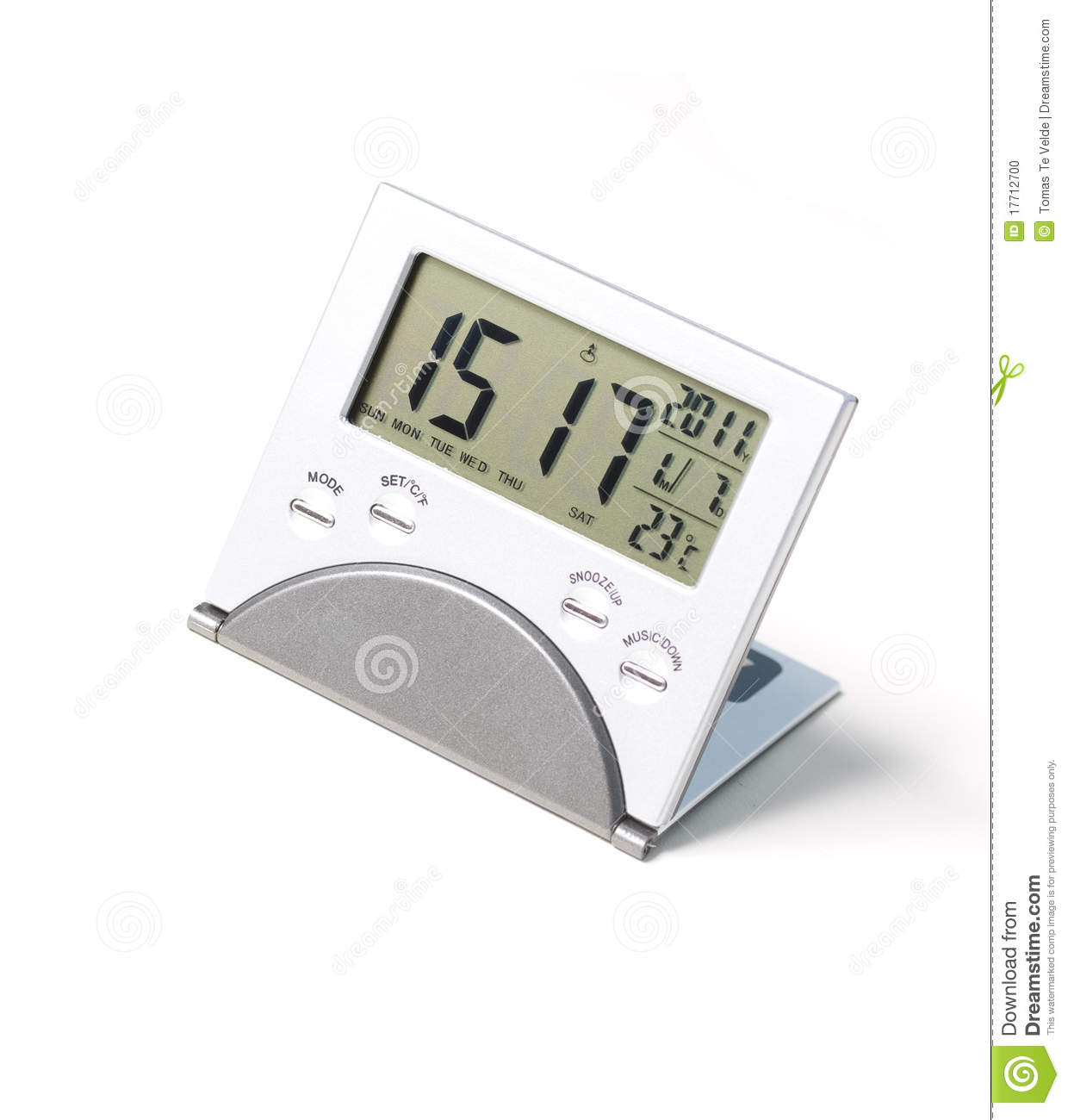 Digital Desk Clock A Small Digital Clock Stock Photo Image 17712700