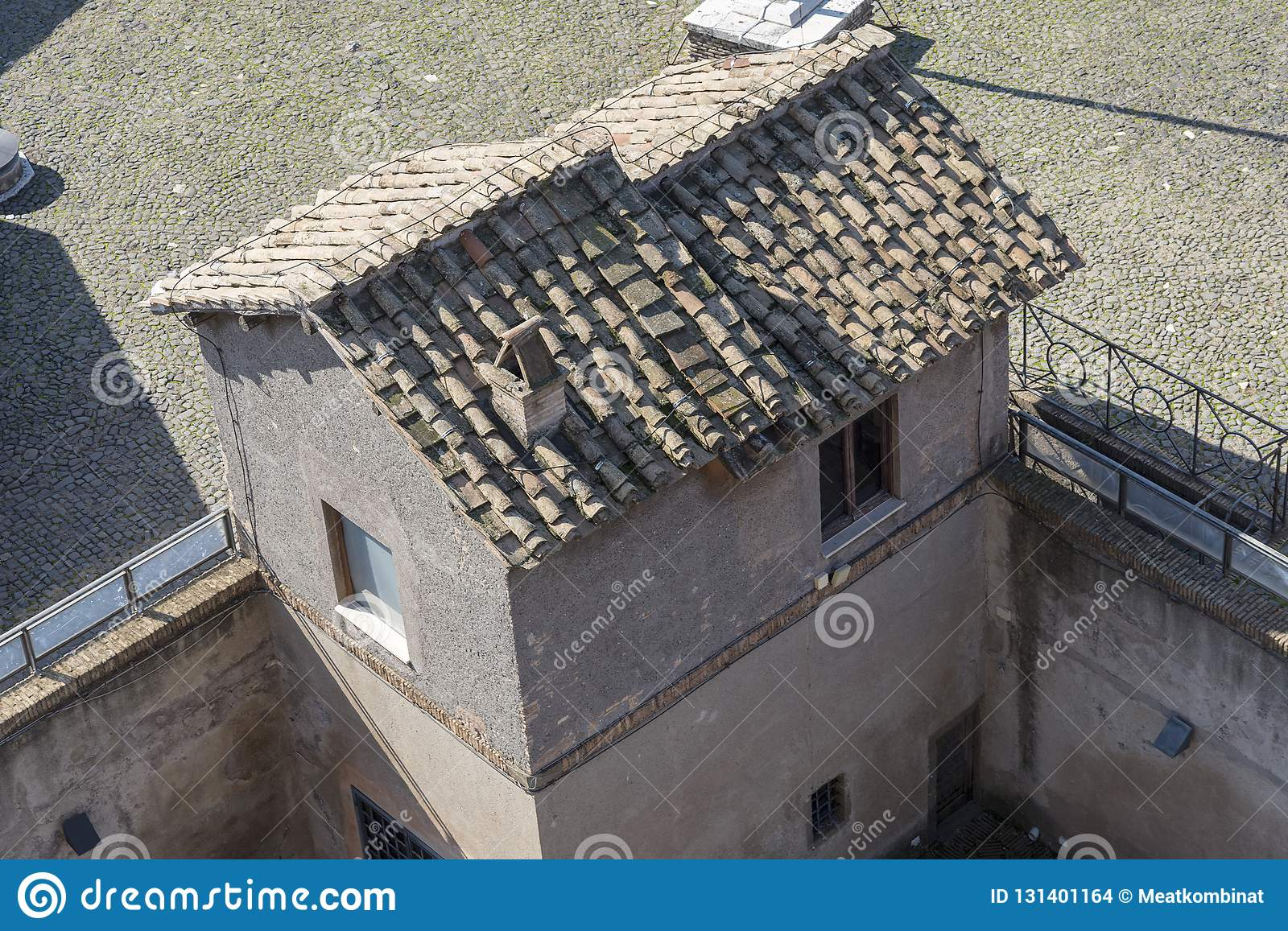 Small House With An Old Roof Top View Stock Photo Image Of Exterior Residential 131401164