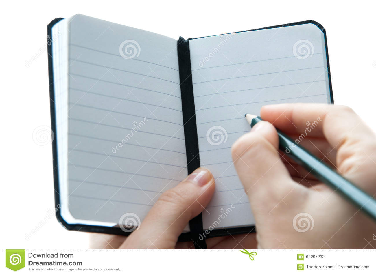 Notebook Klein Small Notebook Stock Image Image Of Pencil Hands Small 63297233