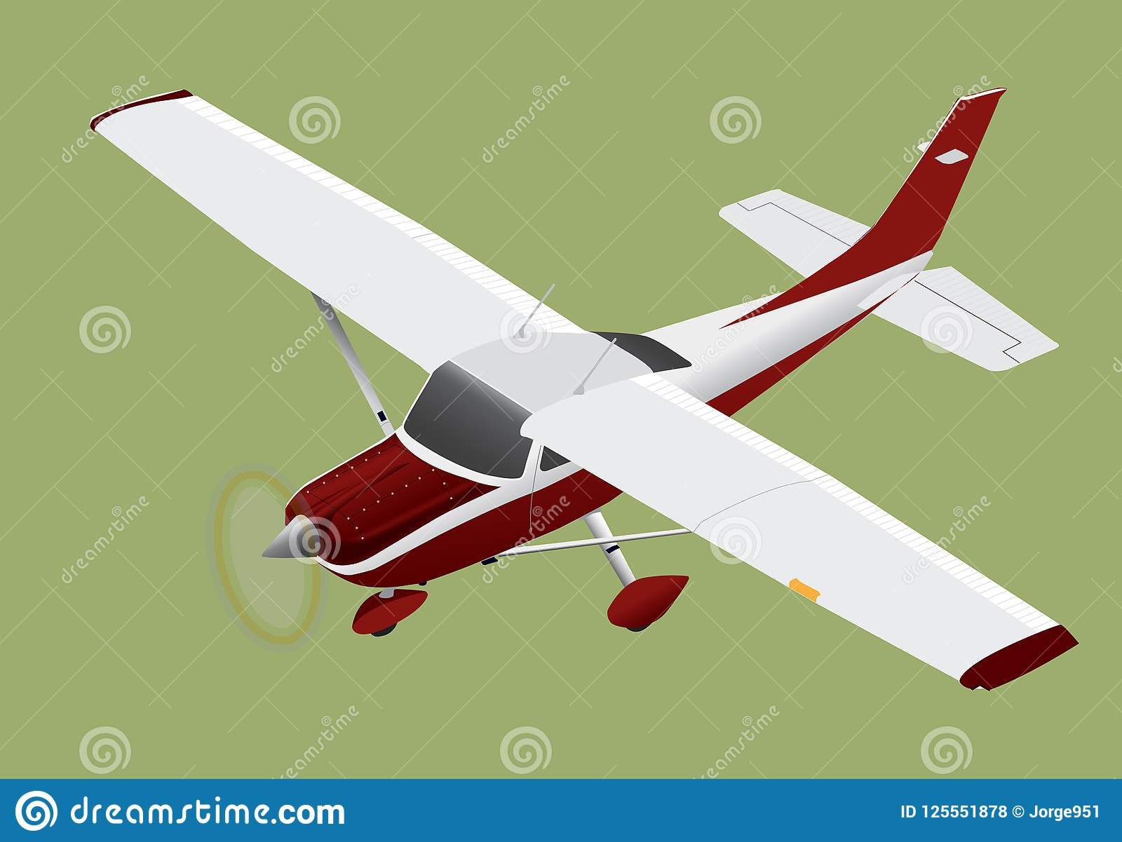 Cessna Plane Small Plane Cessna 182 Flying Illustration 125551878 Megapixl