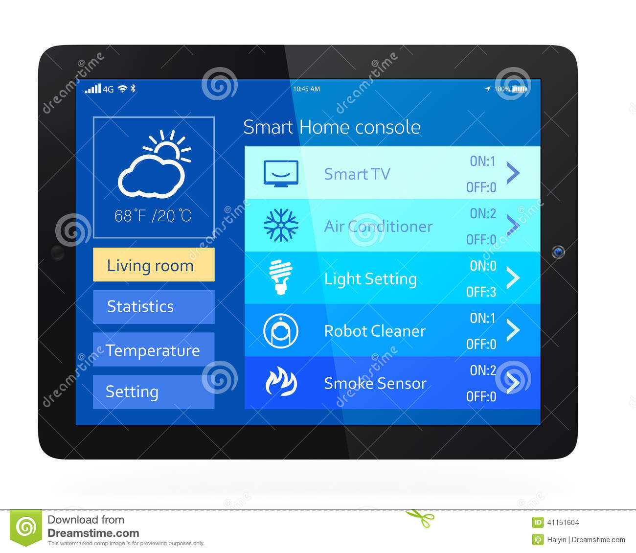 Smart Home App Smart Home Console Stock Photo Image Of Phone Monitoring