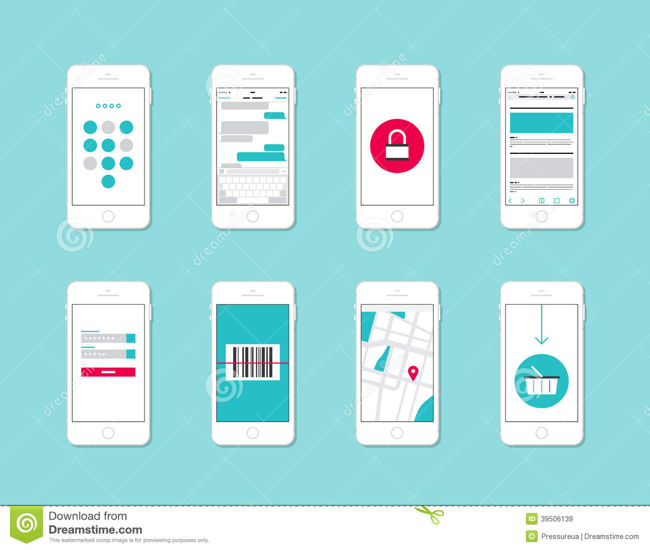 Application Dessin 3d Smartphone Application Interface Elements Stock Vector
