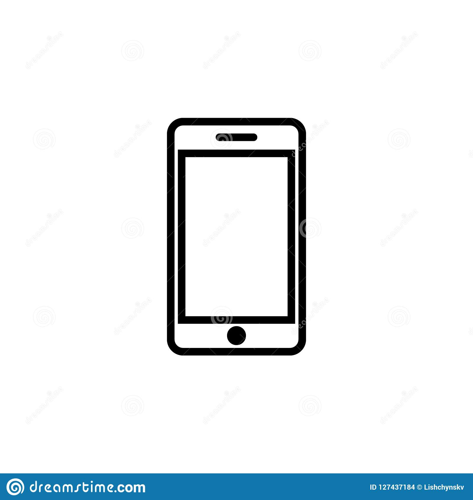 Möbel Modern Design Smartphone Icon Mobile Icon Modern Design Vector Illustration
