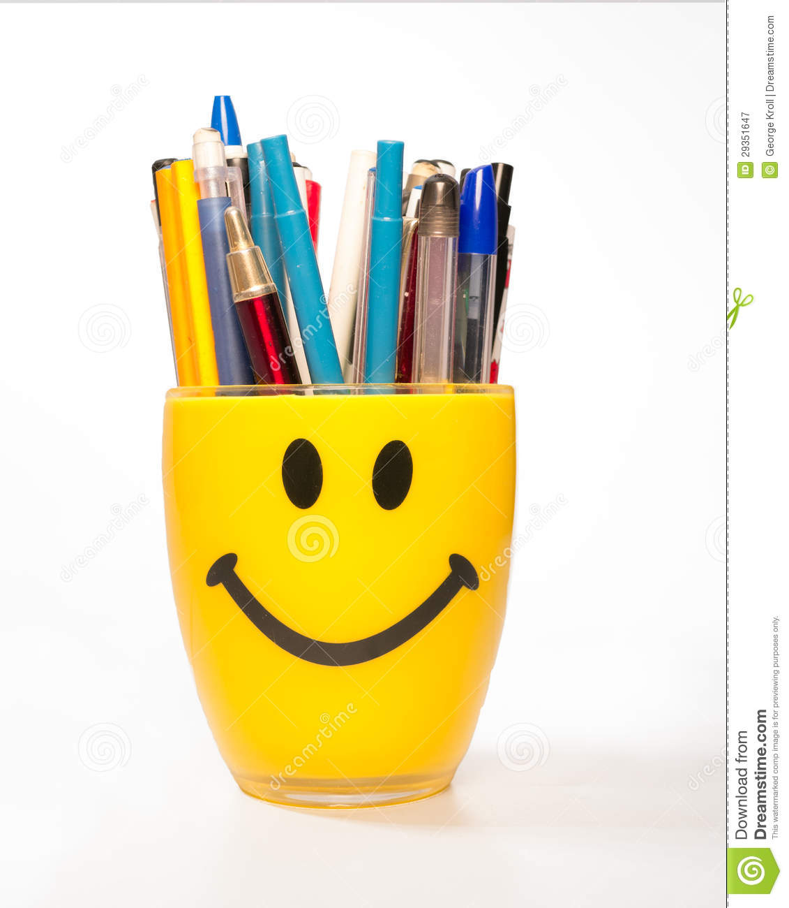 Pen Cup Holder Smiley Cup Pen Holder Stock Image Image Of Holder