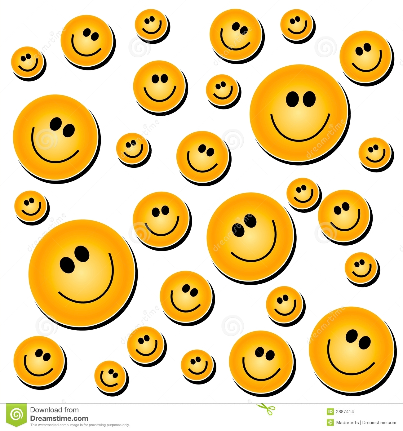 Cute Artsy Wallpapers Smiley Face Background White Stock Illustration