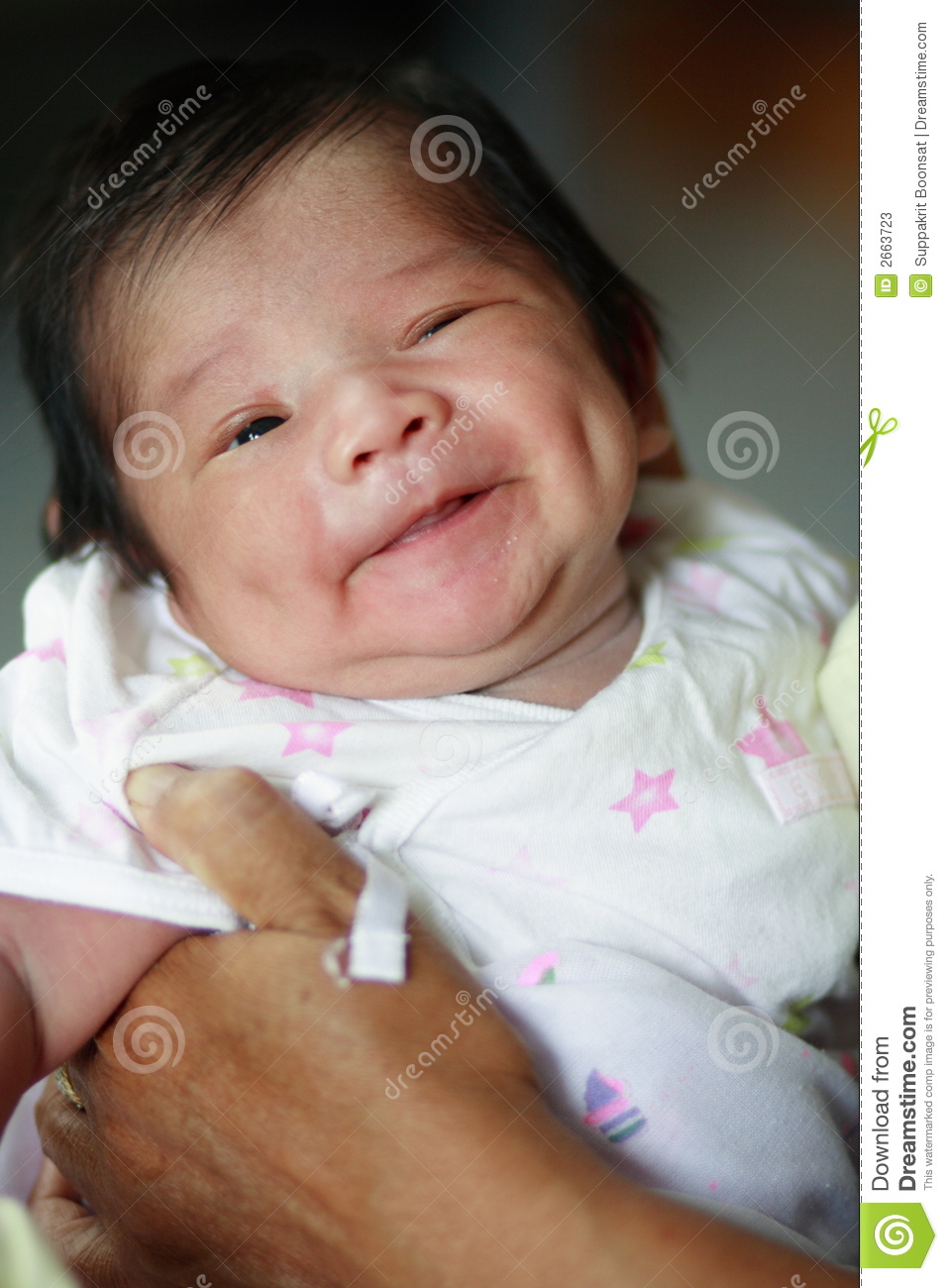 Cute Infants Wallpapers Smiling Dimpled Baby Stock Photos Image 2663723
