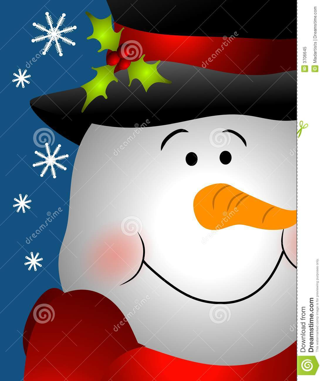 Snowman Face Clipart Smiling Snowman Face Close Up Royalty Free Stock Photo