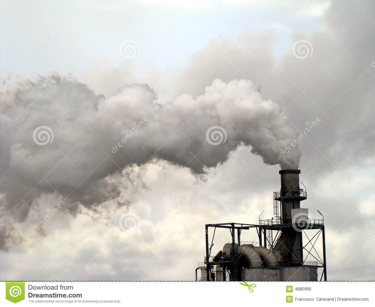 Pollution Cheminées Smoke Chimney Pollution Stock Photo Image 4880990