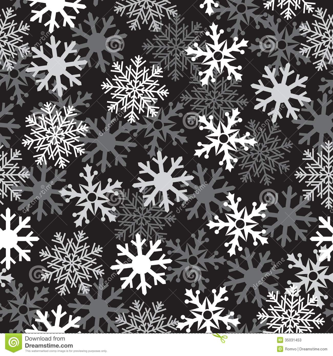 Christmas Wallpaper Snow Falling Snow Black Pattern Stock Vector Image Of Falling