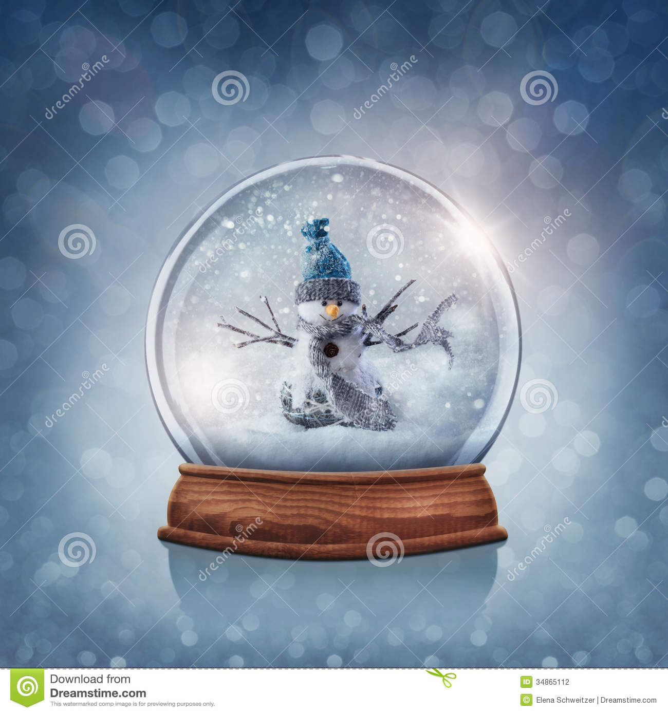 Cute Animated Hd Wallpapers Snow Globe With Snowman Stock Photo Image Of Copy Bokeh