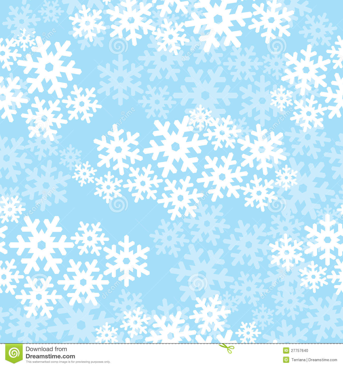 Animated Snow Falling Wallpaper Free Download Snowflakes Seamless Christmas Pattern Stock Vector