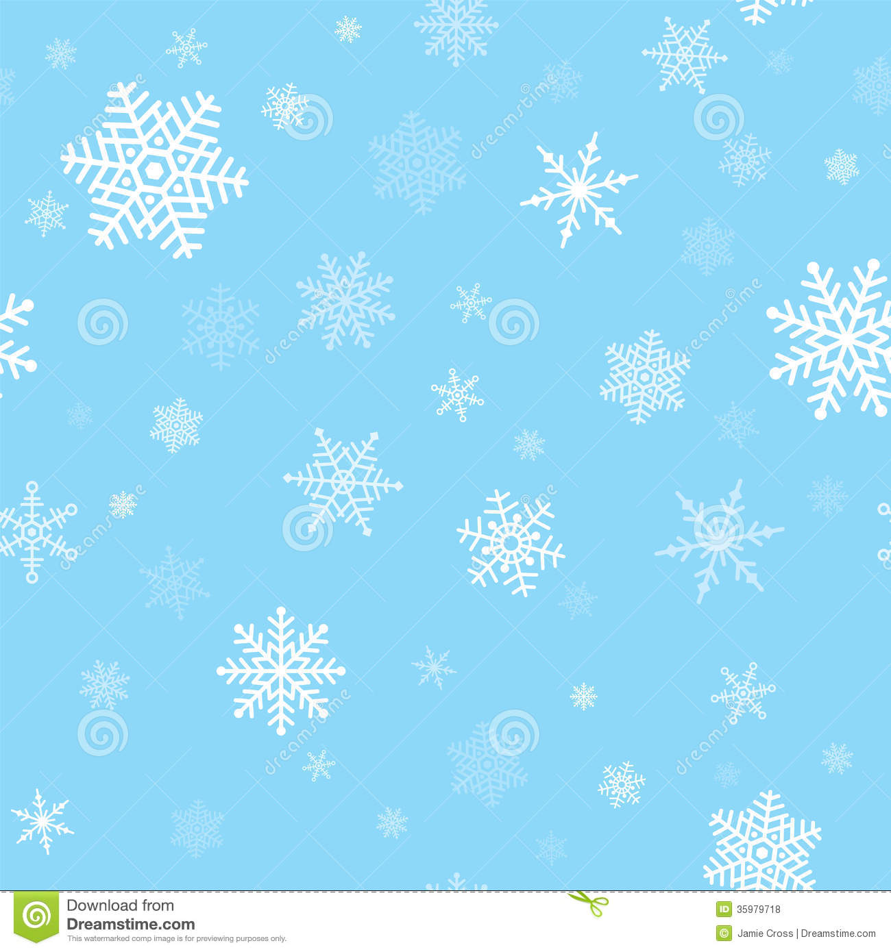 Falling Anow Wallpaper Snowflakes Seamless Pattern Royalty Free Stock Photos