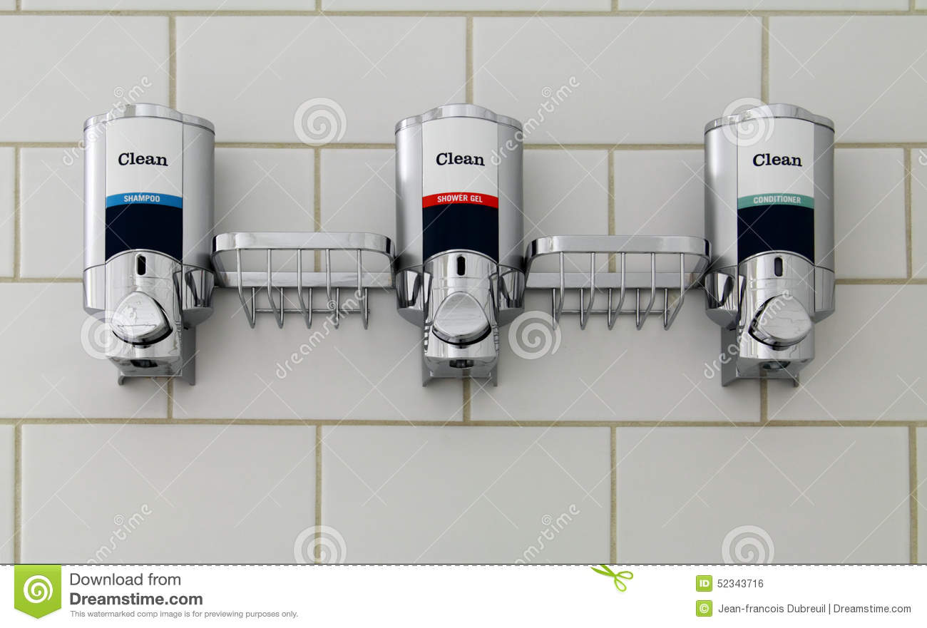Soap And Shampoo Dispensers For Showers Soap Dispensers Stock Photo Image 52343716