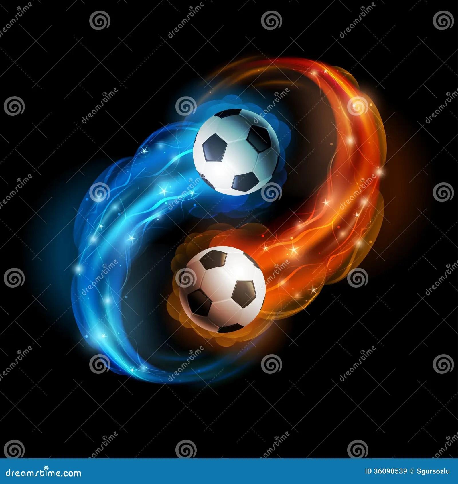 Really Cool 3d Wallpapers Soccer Ball Stock Vector Illustration Of Burning Ball