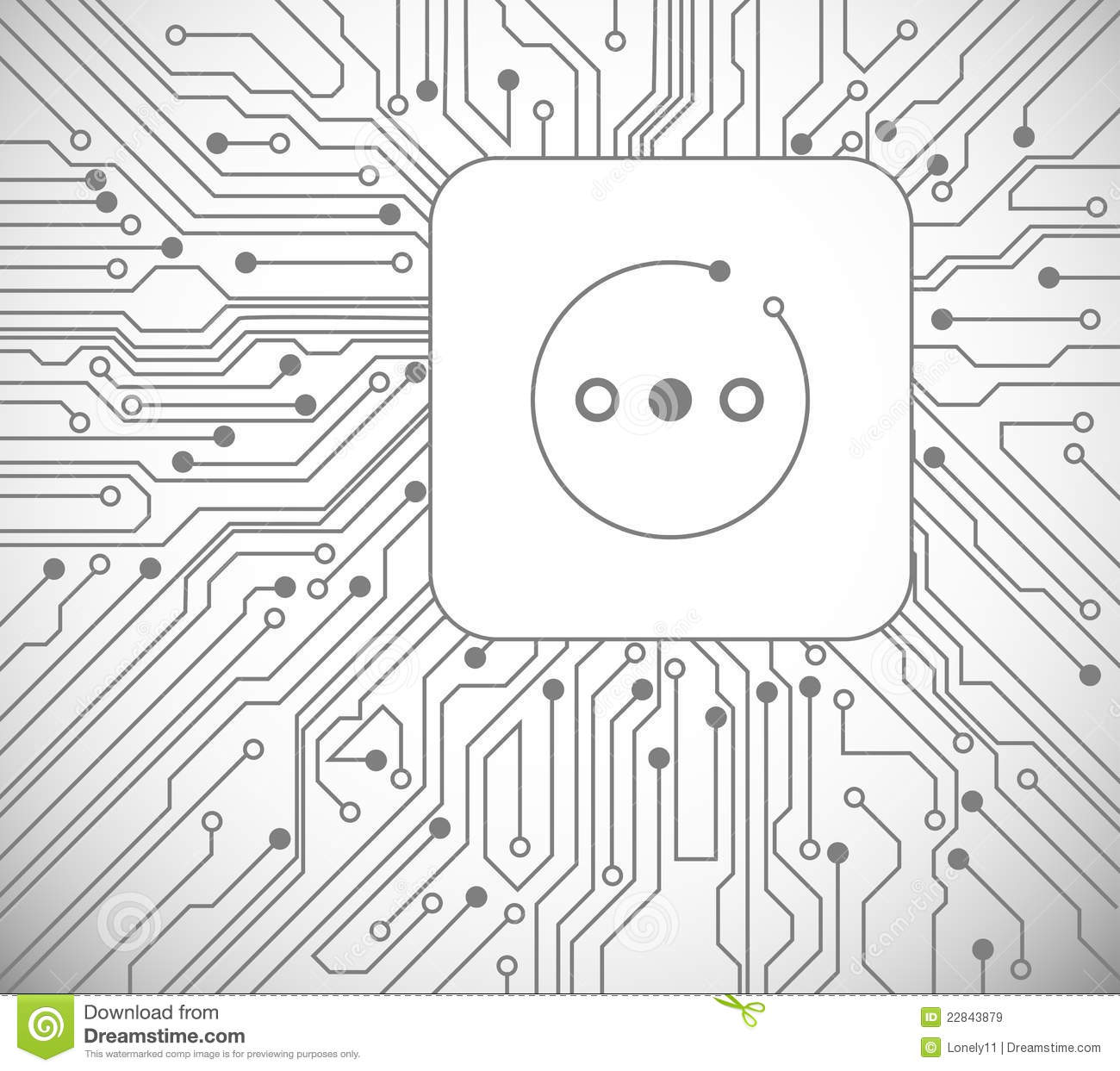 circuit board and computer chip close up royalty free stock images