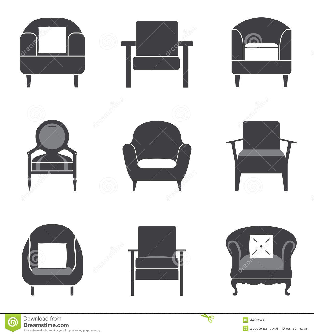 Sofa Vector Free Sofa Icon Set Stock Vector Illustration Of Collection 44822446