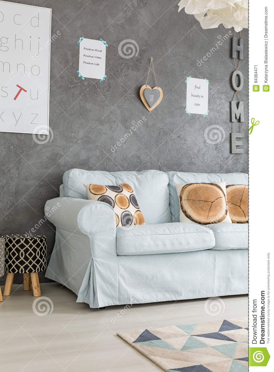 Quotes On Sofa Sofa In Living Room Stock Image Image Of Quotes Light 84364471