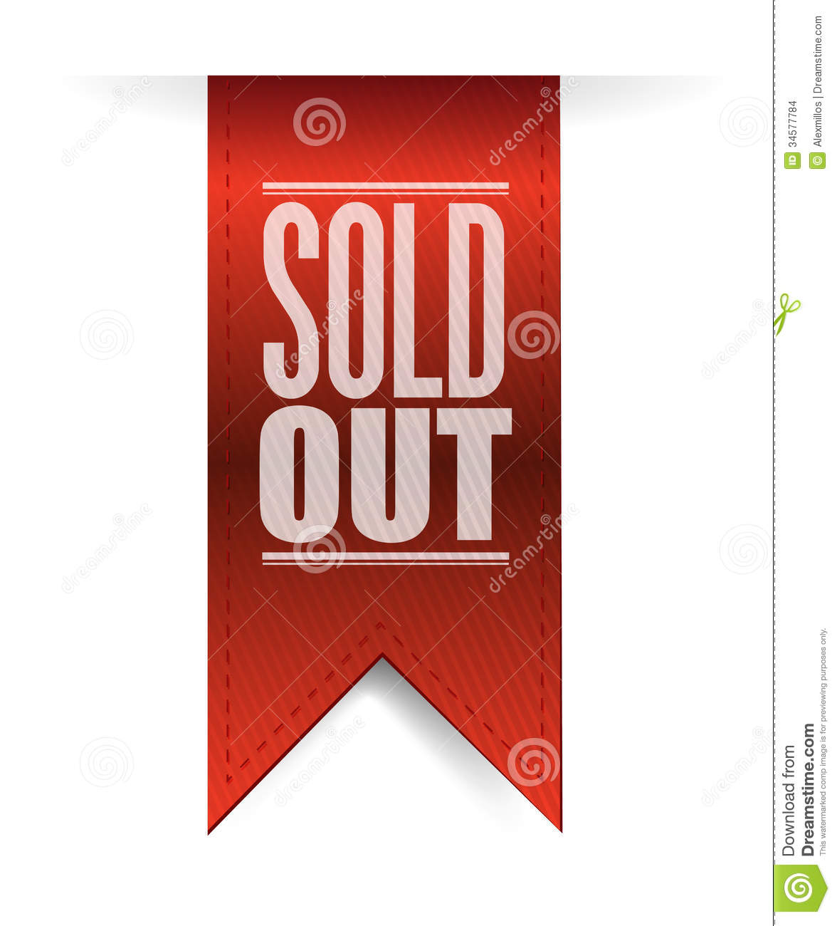 Store Banne Solde Sold Out Textured Banner Illustration Design Stock Images