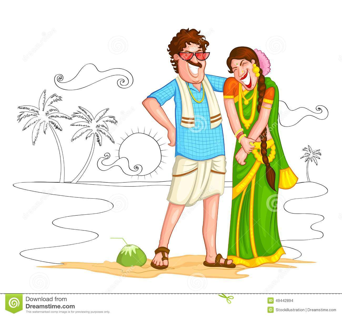 Hindu God Animation Wallpaper Free South Indian Couple