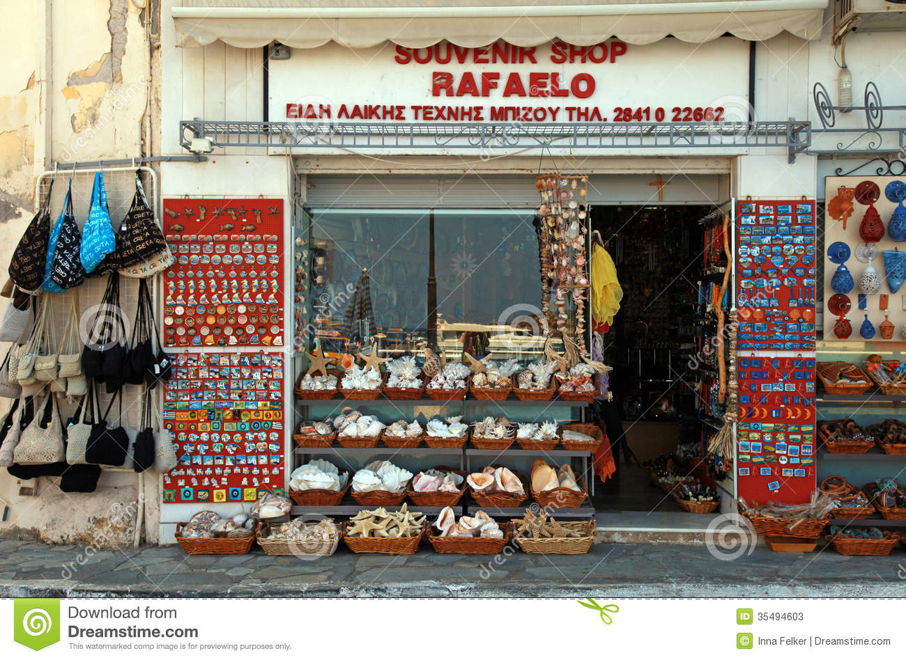 Italian Design Gifts Souvenir Shop Greece Editorial Stock Photo Image 35494603