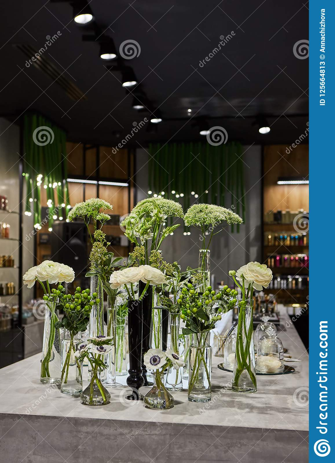 Spa Salon Shopping Garden Center Flowers Decorating For Holiday Copy Space Stock Image Image Of Leaf Fresh 125664813