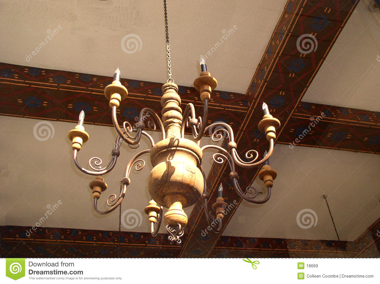 Spanish Chandelier Spanish Chandelier Stock Image Image Of Hand Wood Sunshine 18669