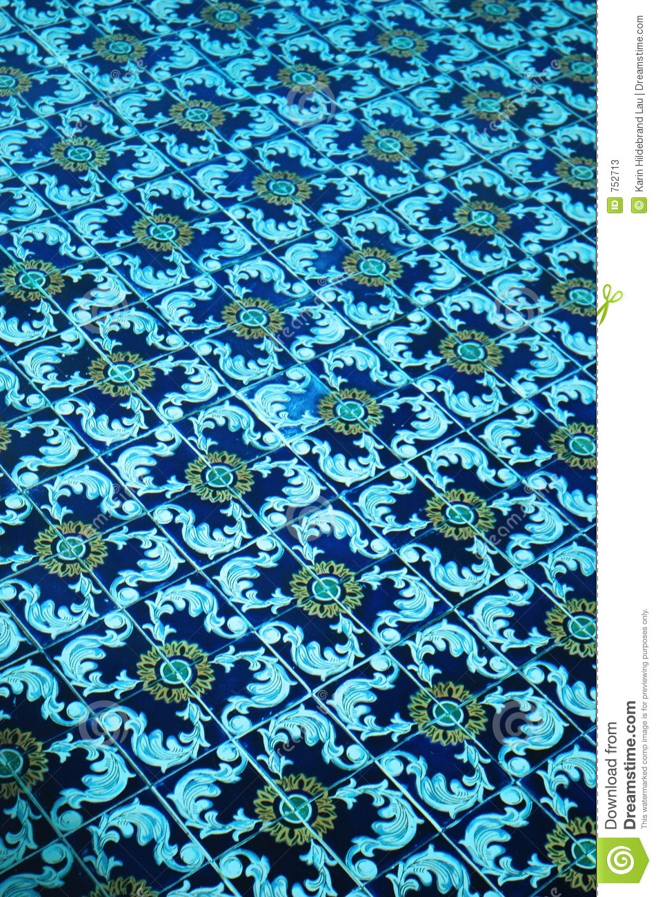 Decorative Tiles Spanish Tile In Pool Stock Photos - Image: 752713