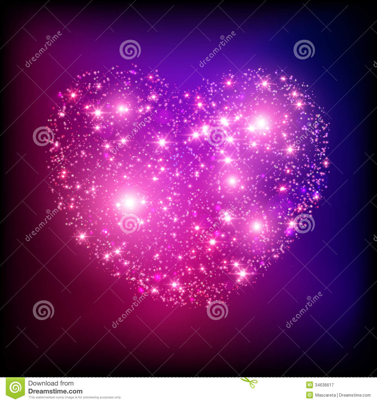 3d Animated Wallpaper Christmas Sparkle Bright Pink Heart Royalty Free Stock Photography