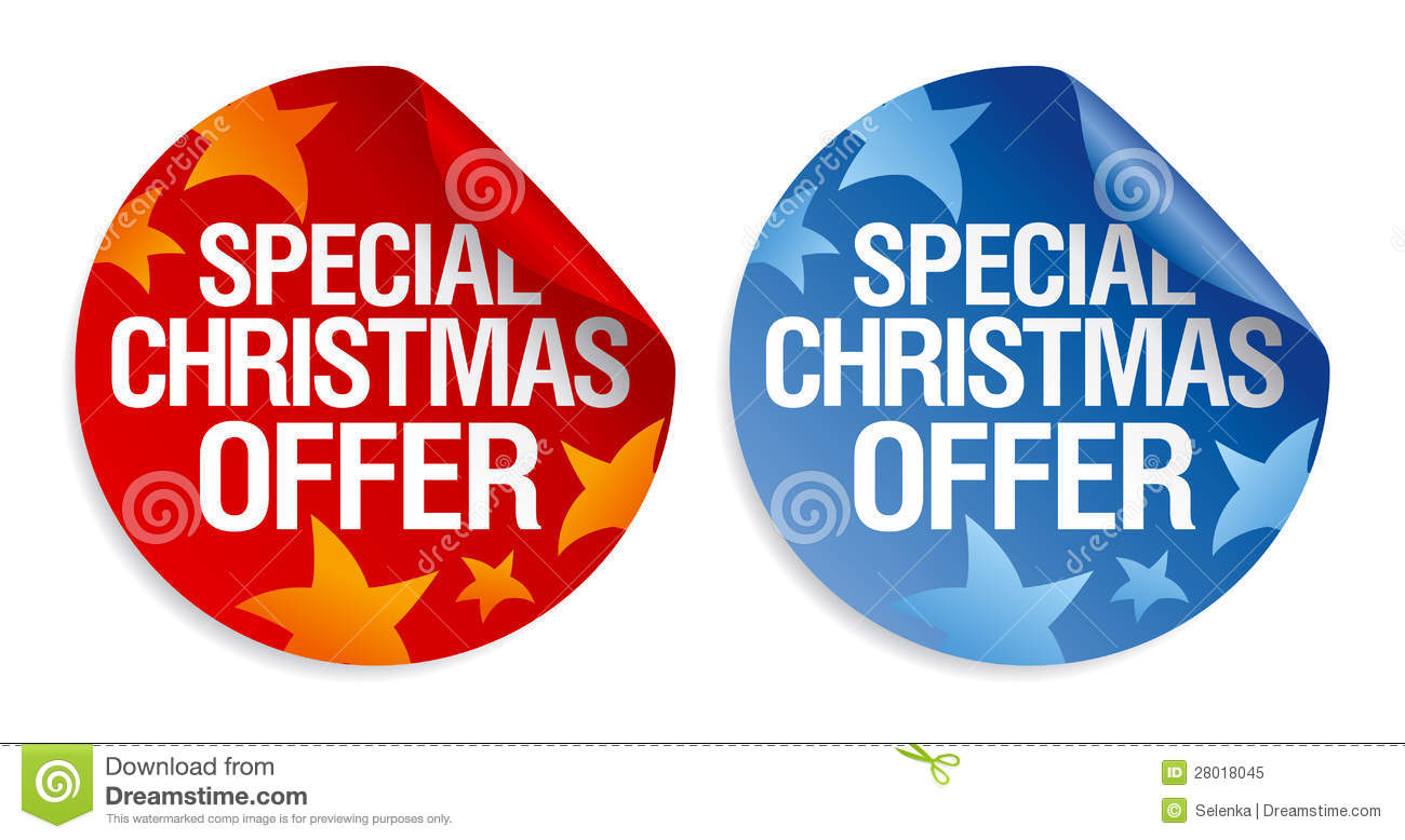 Store Banne 6 X 3.5 M Special Christmas Offer Stickers Stock Vector Image