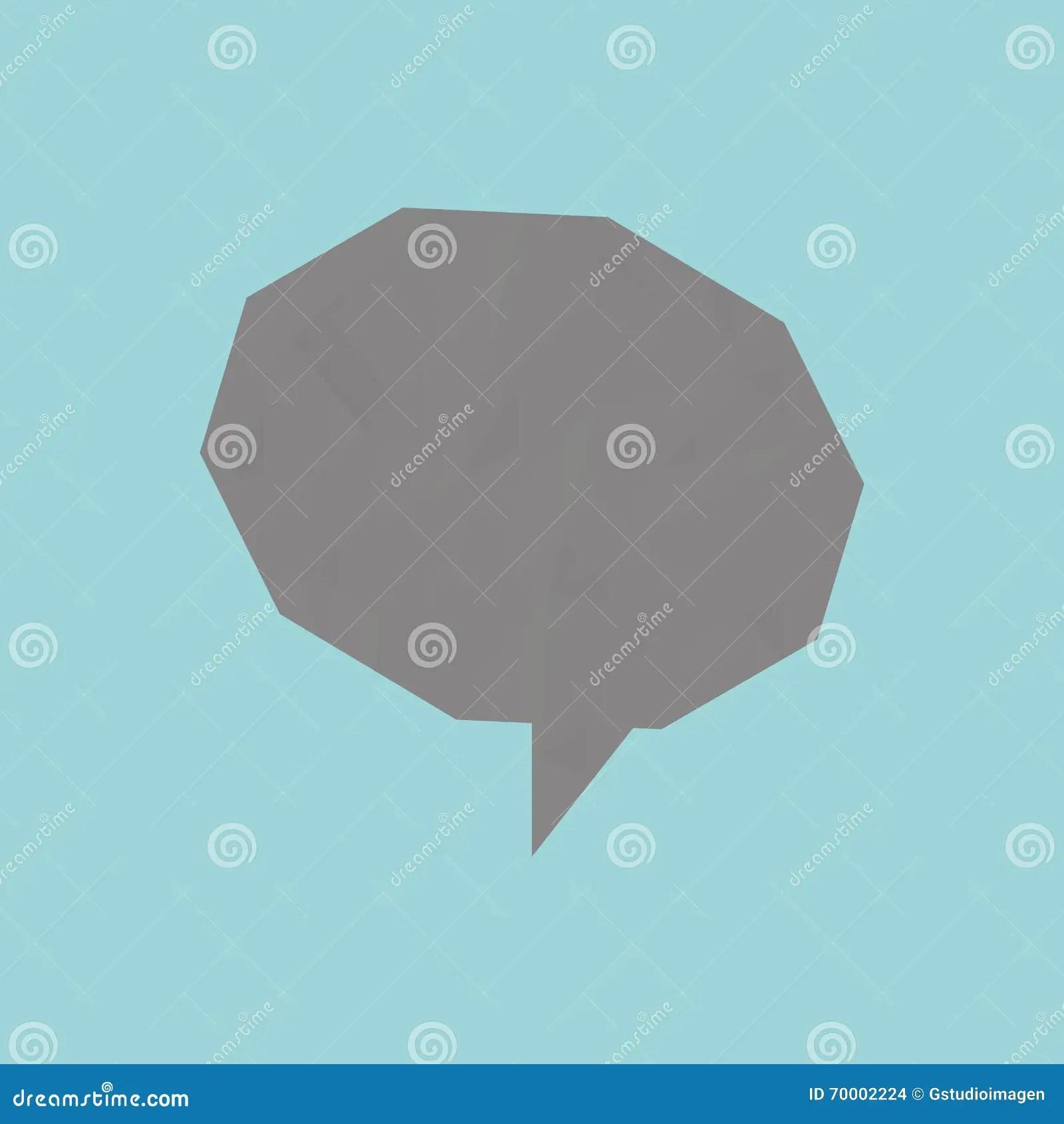 Speech bubble design stock illustration Illustration of style