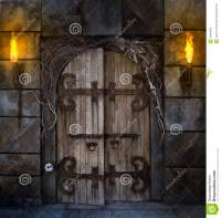 Spooky Door stock photo. Image of spooky, halloween, fire