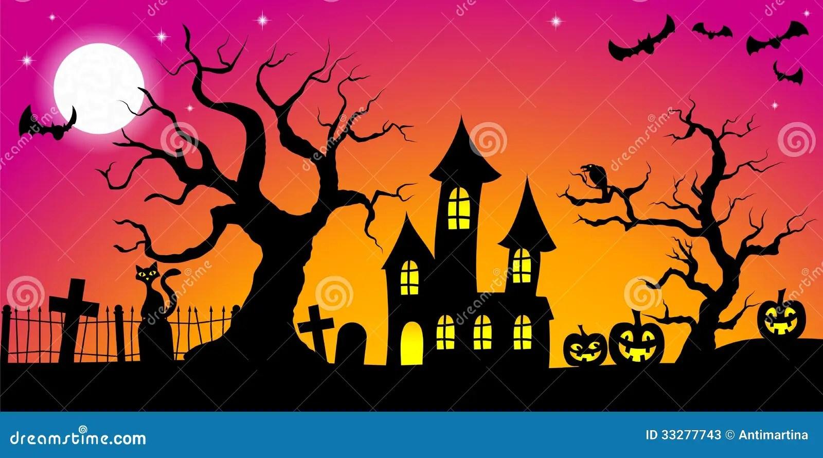 Fall Graveyard Cemetery Wallpaper Spooky Halloween Background Stock Photos Image 33277743