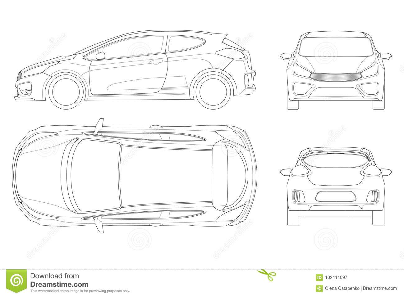 car front outline