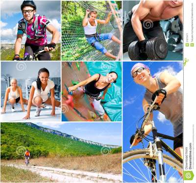 Sports lifestyle concept stock image. Image of collage ...
